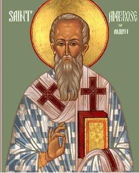 القديس امبروسيوس أسقف ميلانو
