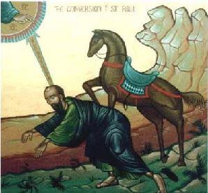 سرّ اهتداء القدّيس بولس نعمة لقاء المسيح