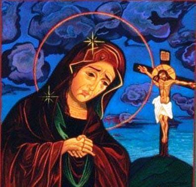 إشتراك مريم في ذبيحة الفداء